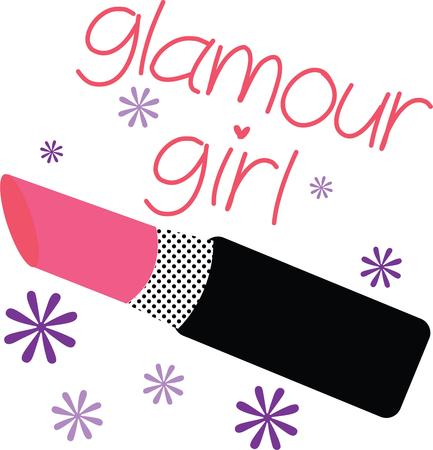 lipstick tube: Add glamor to your projects with this design on lipstick holders, room decor, bath towels and more!