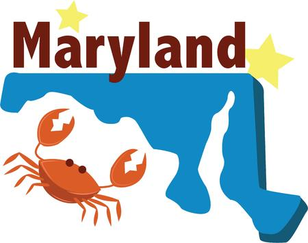 seasoned: Baltimore is a land of crabs seasoned to perfection!  Show pride for your favorite city and make a great keepsake with this design on t-shirts, jackets, sweatshirts, hats and more! Illustration