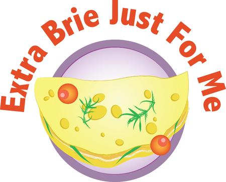 brie: For a special breakfast treat, theres nothing like freshly made omeletes.  A perfect design on tablecloths, kitchen linen and more!