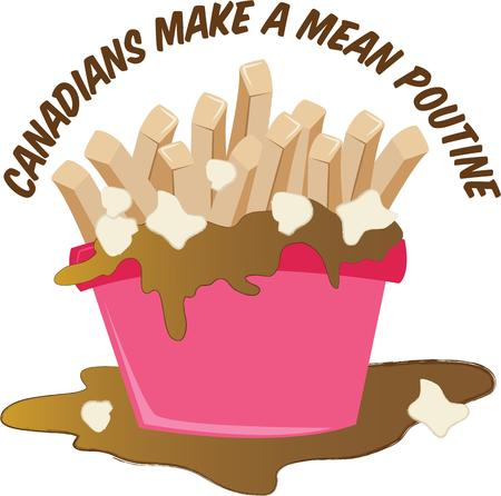 gravy: The smell of freshly made poutine is the most enticing aroma on the planet.  Get this appetizing design on your home projects!