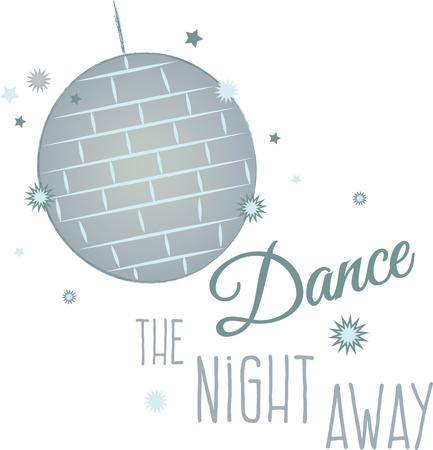 saturday night: Awaken the dancer within.  Create an unforgettable look and a statement of elegance  fun to your party with this design!