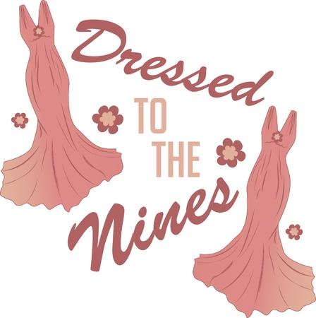 nines: The devil is in the detail! Add fashion and beauty to tote bags, wall hangings, quilts and more with a couture costume design Illustration
