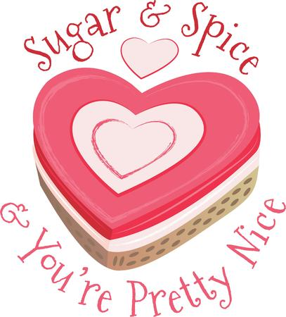 sweeten: Sweeten up your Valentines Day and show some love with this design on your holiday projects.