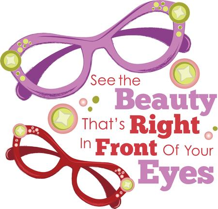 accessorize: Accessorize to your hearts desire.  Get these colorful eyeglasses on your indoor projects and add personality to your style!
