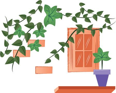 ivy vine: Plants add unique style and cheer to any space.  Get the spirit of spring on your projects with this design.