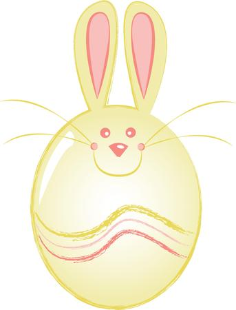 cottontail: Enjoy a cracking Easter with this design on throw pillows, napkins, sweatshirts, bags and more. Illustration