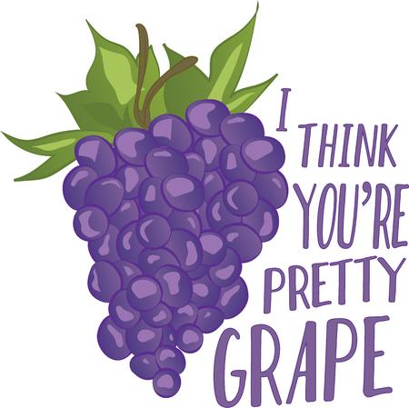 raisin: Grapes are an all-time favorite when it comes to kitchen decor.  This design will be perfect on table linens, wall decor, wall plaques and more. Illustration