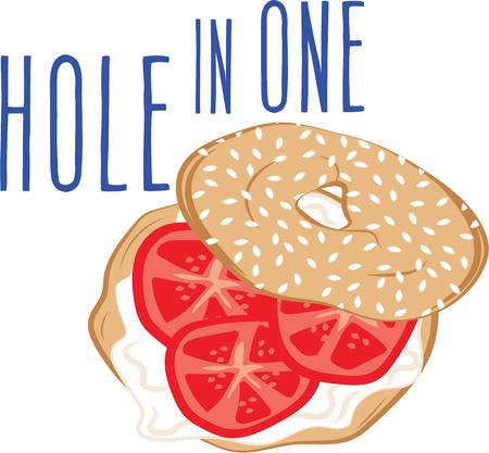 no food: No food item is more New York than the bagel.  Get this appetizing design on kitchen linen, chef coats, apron, hats and more. Illustration