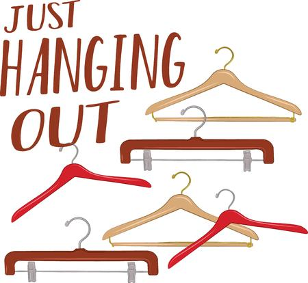 valet: Dress up your wooden hangers with this design and get your lockers, sewing supplies, crafts or anything else organized.