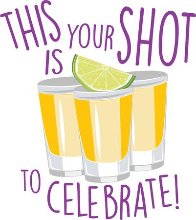 shots alcohol: Time to spruce up your Cinco de Mayo festivities with this perfect design on cocktail napkins and personalized gifts. Illustration