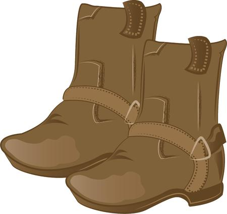 accessorize: Accessorize to your hearts desire.  Get these cool boots on your indoor projects and add personality to your style. Illustration