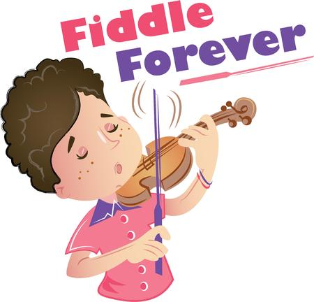 fiddle bow: This design is perfect for the music fan in your home. Stitch this cool design on shirts, bags, and more for your music lovers.