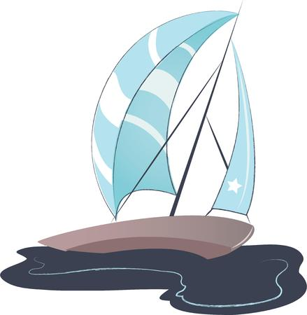 boater: A perfect design for your sailor, boater or lover of all things nautical embroider on clothes, towels,  gear bags,  shirts, jackets or wall hangings.