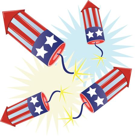 scarves: Show off your patriotic side by wearing this flag banner on t-shirts, scarves, hats and more for Independence Day! Illustration