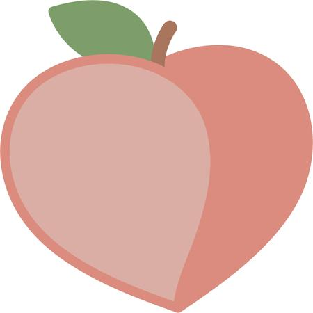 peaches: Create a splendid look for summer with tasty peaches on place mats and linens. Illustration