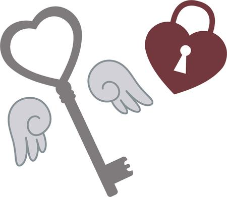 latchkey: Love is the key. Get this key to the heart designs set for that special day or every day.  Perfect on throw pillows, quilts and more.