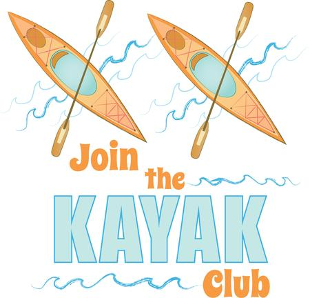 kayaker: A perfect design for your sailor, boater or lover of all things nautical embroider on clothes, towels,  gear bags,  t-shirts, jackets or wall hangings.
