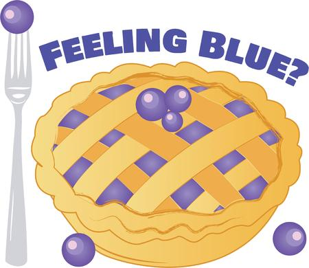 blueberry pie: This desert of choice of all Americans will make a perfect gift for loved ones on framed embroidery, kitchen linen, chef coats, apron and hats. Illustration