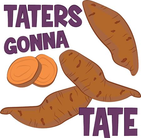yam: This little spud is very popular among the tater tots.  Get this adorable design on bodysuits, layettes, baby t-shirts, hats, bibs & more!