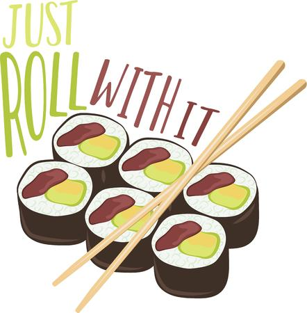 nori: Get adventurous with your food and roll up some sushi and create a stimulating visual miracle with this design on kitchen linen, tablecloth and more!