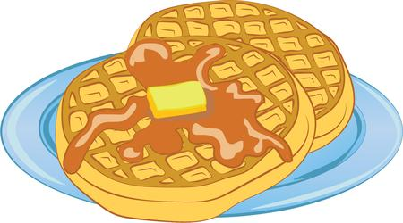 syrup: For a special breakfast treat, theres nothing like freshly made steaming hot waffles doused in syrup.  A perfect design on tablecloths, kitchen linen and more!