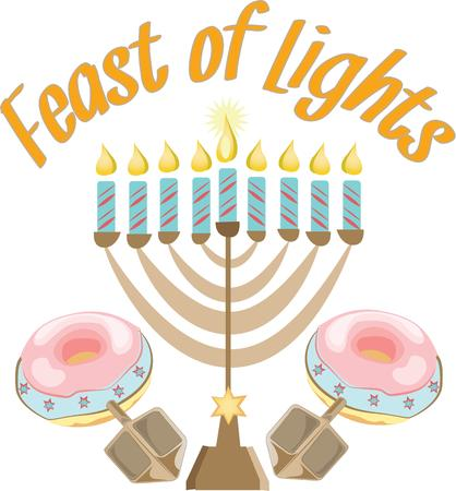 brim: The Menorah design is beautiful and bright and fills you to the brim with holiday spirit and is perfect on gifts, table runners, kitchen linens, home decor and on all things Hanukkah.