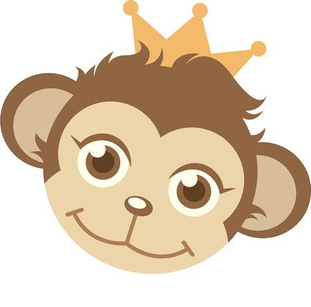 primate: This little primate is full of curiosity, adventure and mischief and ready to jump on to bodysuits, layettes, diaper covers, baby shirts, hats, bibs and more.