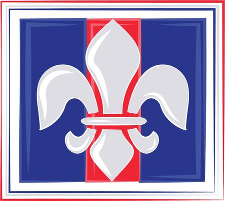 orleans symbol: This heraldic design will make a great keepsake for loved ones on framed embroidery, t-shirts, sweatshirts, towels and more. Illustration