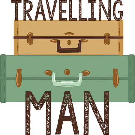 trotters: Grab you passport and get ready to expand your horizons!  This design is perfect on luggage tags, clothing and more for your globe trotters! Illustration