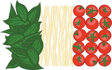 basil leaf: Pasta is the favorite foundation for a family meal.  Get this delicious design on towels, aprons, and shirts for the perfect gift.