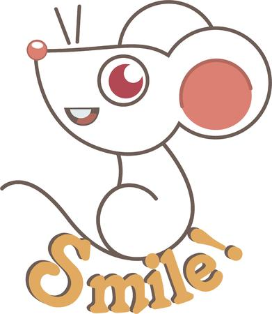 amused: Put the cute in kids' embroidery with this adorable mouse motif on bodysuits, layettes, t-shirts, hats, bibs & more!