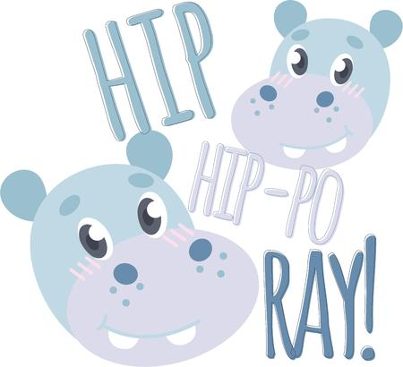 herbivore: Put the cute in kids� embroidery with the popular hippo motif on bodysuits, layettes, t-shirts, hats, bibs & more!