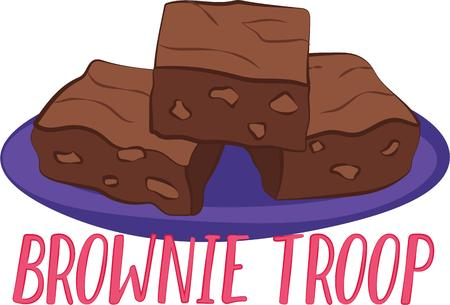brownie: For anyone with a sweet tooth, this is a perfect design.  Indulge yourself without the guilt with this design on your indoor projects! Illustration
