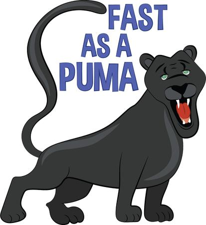 puma cat: Get close to nature like never before with this wildlife design on quilts, garments, or embroidery wall art.
