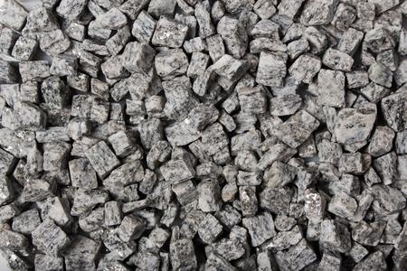beautiful crushed granite gray on a white