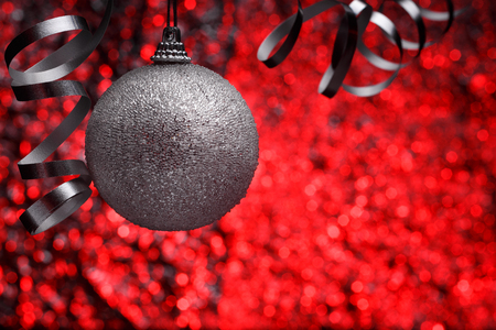 tradition: Christmas composition on a brilliant blurry background. Stock Photo