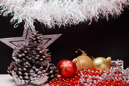 tradition: Christmas composition on a dark matte background.