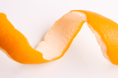 oranges and juice on a white background.