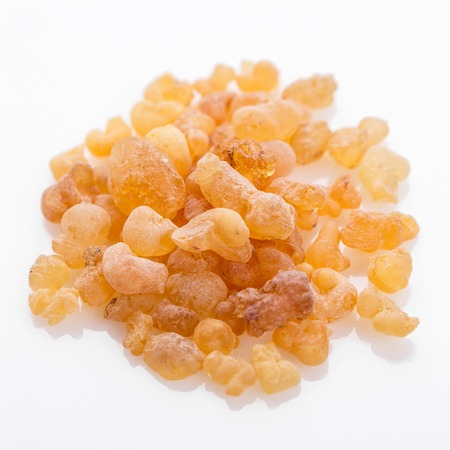 fragrant frankincense on a white acrylic background. Фото со стока