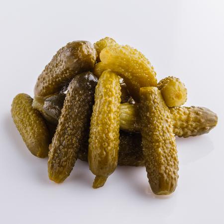 pickled vegetables on a white acrylic background. Reklamní fotografie - 122081128