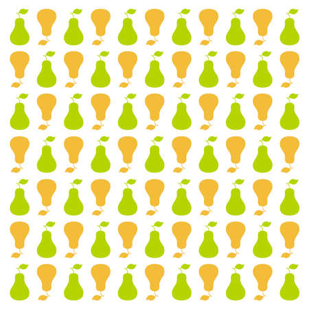 A vintage-inspired mini pear pattern in a square format that is well suited as a background.