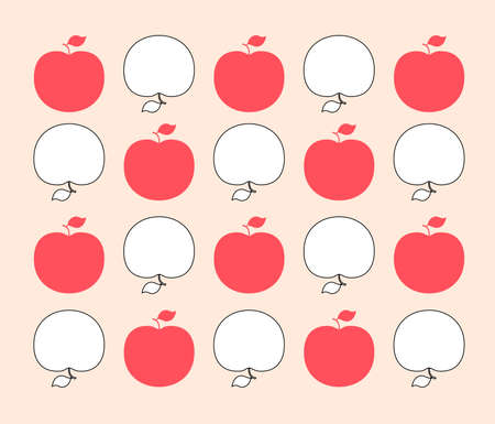 analogous:  A vintage-inspired apple pattern for your designs Illustration