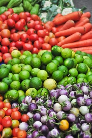 Lao street market photo