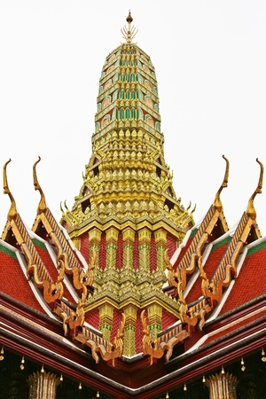 The roof in Wat Phra Kaew Temple photo