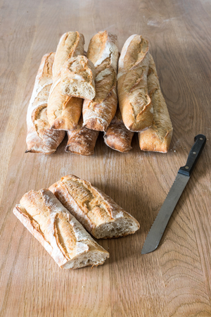 typical: Typical French bread, baguettes