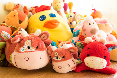 soft toys: Soft toys in a childs bedroom