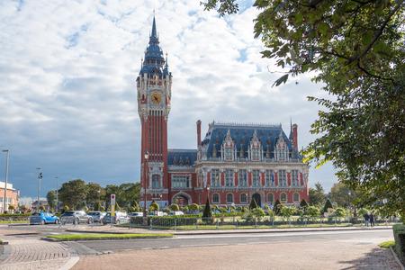 calais: CALAIS, FRANCE - SEPTEMBER 26 : City hall of Calais, October 26, 2015. Editorial