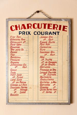 "charcuter�a: Precios cartelera Charcuter�a en Francia: ""charcuter�a"" Editorial"