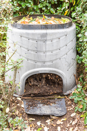 decompose: Composting the Kitchen Waste in a plastic compost bin