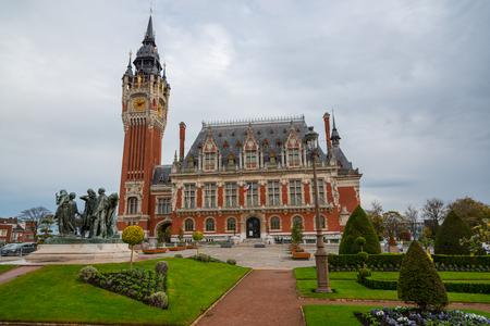City hall of Calais, France Фото со стока - 85340938